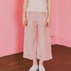 High-waist Wide Crop Pants(PK)