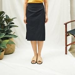 Rawcut Midi Skirt(BK)