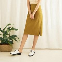 Rawcut Midi Skirt(O/GR)