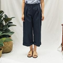 High-waist Wide Crop Pants(D/NA)