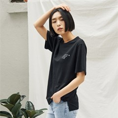 Oversize Fit Font Tee(BK)