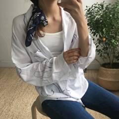 크로키 패턴 소프트 셔츠 (2-COLORS)
