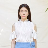 SEE-THROUGH OFF-SHOULDER TOP(WHITE)