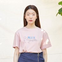 LETTERING  T-SHIRT (PINK)