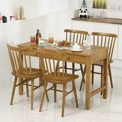 보르도 원목 1200 식탁세트 (의자4)