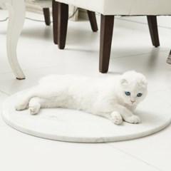 코네코 강아지 고양이 쿨매트(천연 마블 대리석)_(539225)
