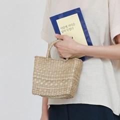 Straw mini tote bag