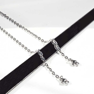 basic surgical steel anklebracelet Ⅱ