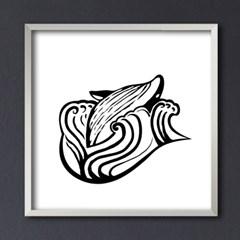 LP 메탈 액자 - whale