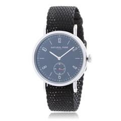 내츄럴파크 정품 NP2314-BK-PLBK 펄론밴드 남녀공용 손목시계