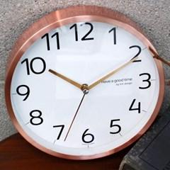 무소음벽시계_로즈골드220 좋은시간