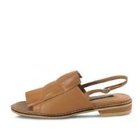 kami et muse Layered pleats flat sandals_KM17s317
