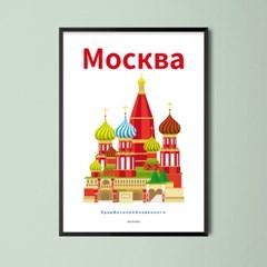 유니크 인테리어 디자인 포스터 M 모스크바 Moscow