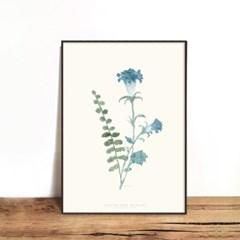인테리어액자 Blue flower 01