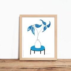 인테리어액자 Blue table