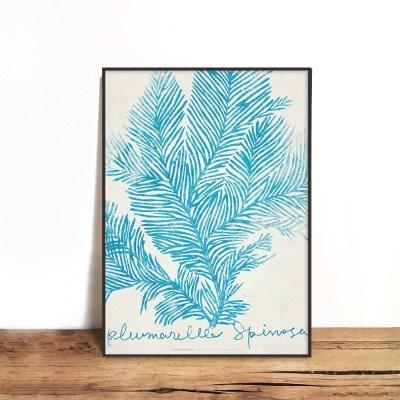 인테리어액자 Coral blue 01
