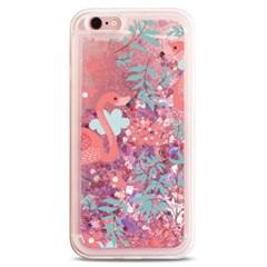 [플라밍고] 분홍 꽃 디자인 글리터 케이스