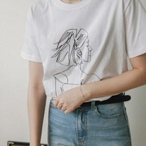 감각적인 드로잉 티셔츠