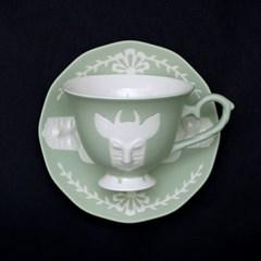 카페룸넘버1508 사슴 커피잔세트 green pastel