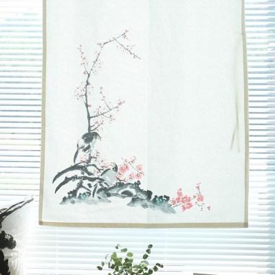 들꽃이야기 매화와 새 가리개커튼 80x130