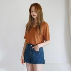 V-neck basic summer knit