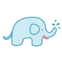코끼리 니트 아플리케