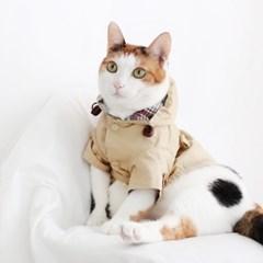 Miyopet 트렌치코트 베이지 고양이옷 강아지옷 코스튬 할로윈