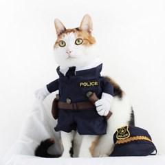 Miyopet 경찰 고양이옷 강아지옷 코스튬 할로윈