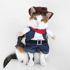 Miyopet 카우보이 고양이옷 강아지옷 코스튬 할로윈