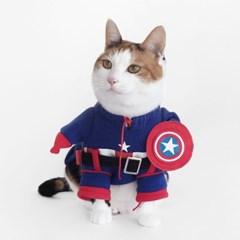 Miyopet 캡틴히어로 고양이옷 강아지옷 코스튬 할로윈