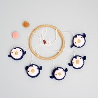 플라잉 펭귄 아기 모빌 - 손뜨개 KIT