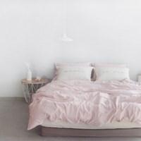 N 에스타도 천연염색 양면침구 - 베이지핑크&크림 (싱글/슈퍼싱글)