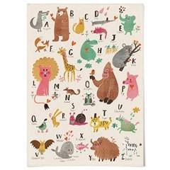 패브릭 천 포스터 F050 아이방 그림 동물 알파벳