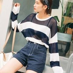 [로코식스] stripe linen knit/니트_(656733)