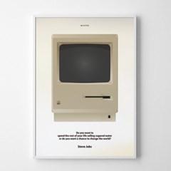 유니크 인테리어 디자인 포스터 M 클래식MAC 스티브잡스