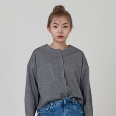 LINE BLOUSE GRAY