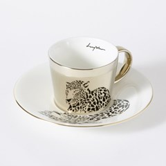 [LUYCHO] 루이초 Amur Leopard-Short (원형미러컵+컵받침SET)