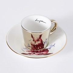 [LUYCHO] 루이초 Eagle Owl-Espresso (미러컵+컵받침SET) 골드
