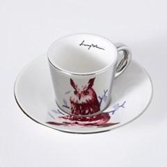 [LUYCHO] 루이초 Eagle Owl-Espresso (미러컵+컵받침SET) 실버