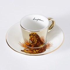 [LUYCHO] 루이초 African Lion-Espresso (미러컵+컵받침SET)