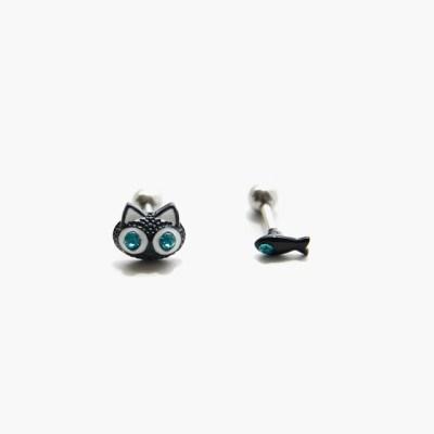 제이로렌 M02057 고양이 물고기 써지컬스틸 피어싱_(542475)