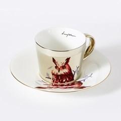 [LUYCHO] 루이초 Eagle Owl-Short (원형미러컵+컵받침SET) 골드