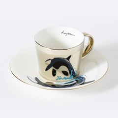 [LUYCHO] 루이초 Killer whale-Short (원형미러컵+컵받침SET) 골드