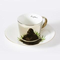 [LUYCHO] 루이초 Lowland Gorilla-Short (원형미러컵+컵받침SET)