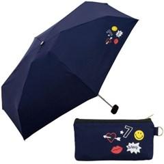smiley patch mini SM03-177 (NV) 5단우산