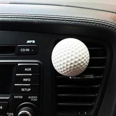 골프공 자동차 석고 방향제(2colors )