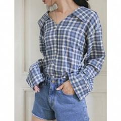 back string check blouse