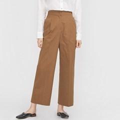 cotton half banding slacks_(695321)