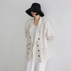 Linen boxy half sleeve jacket