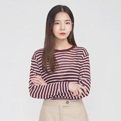 daily stripe long sleeveless T_(694847)